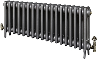 Eastgate Victoriana 3 Column 18 Section Cast Iron Radiator 450mm High x 1118mm Wide - Metallic Finish